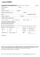 Formulaire d'inscription Enfant PDF
